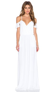 Cold Shoulder Maxi Dress in White