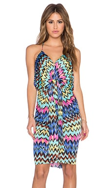 T-Bags LosAngeles Knot Front Mini Dress in Milano Zig Zag