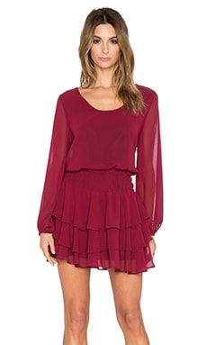 Long Sleeve Mini Dress in Wine