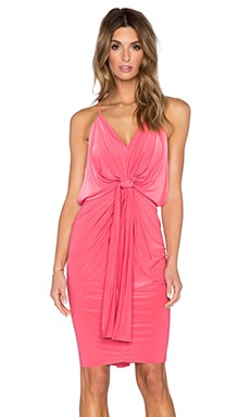 T-Bags LosAngeles V Neck Halter Dress in Coral
