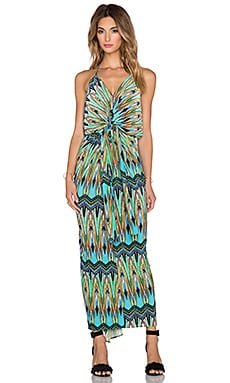 T-Bags LosAngeles Knot Front Maxi Dress in Peacock