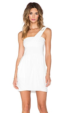 T-Bags LosAngeles One Shoulder Dress in White