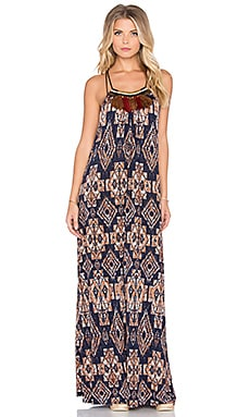 T-Bags LosAngeles Halter Maxi Dress in Desert Night