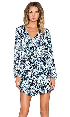 T-Bags LosAngeles Long Sleeve Mini Dress in Navy Marble