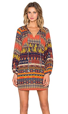T-Bags LosAngeles Long Sleeve Shift Dress in Sedona Print