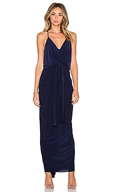 T-Bags LosAngeles Twist Front Maxi Dress in Navy