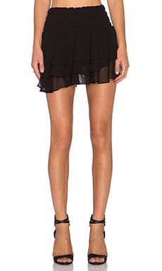 T-Bags LosAngeles Ruffle Mini Skirt in Black