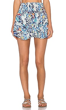 T-Bags LosAngeles Ruffle Mini Skirt in Azul