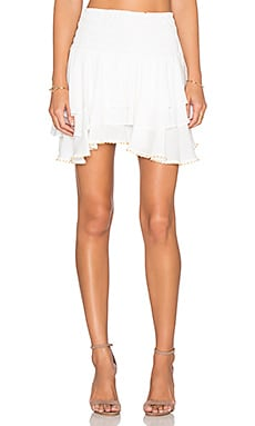 T-Bags LosAngeles Ruffle Mini Skirt in Sea Salt