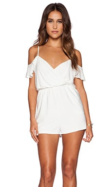 T-Bags LosAngeles Cold Shoulder Romper in White