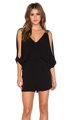 T-Bags LosAngeles Cut Out Romper in Black