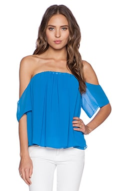 T-Bags LosAngeles Off the Shoulder Top in French Blue