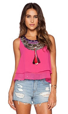 T-Bags LosAngeles Embellished Tank in Pink