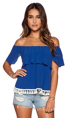 T-Bags LosAngeles Off Shoulder Top in Royal