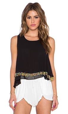 T-Bags LosAngeles Embellished Tank in Black
