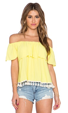 T-Bags LosAngeles Off the Shoulder Top in Lemon