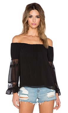 T-Bags LosAngeles 3/4 Sleeve Blouse in Misty Black