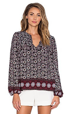 T-Bags LosAngeles Long Sleeve Blouse in Dark Tile