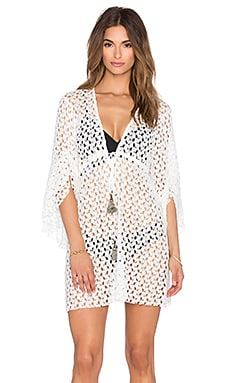 T-Bags LosAngeles Plunge Neck Mini Dress in Ivory
