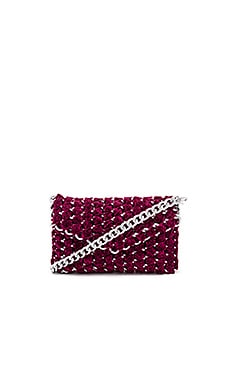 Eve Shimmer Clutch with Silver Chain TAMBONITA $219