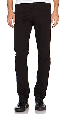 T by Alexander Wang Leather Back Pocket Jeans in Black