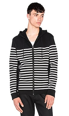 T by Alexander Wang Striped Gel Print Hoodie in Matrix