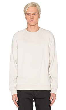 T by Alexander Wang Vintage Fleece Crewneck in Muslin