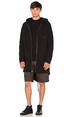 T by Alexander Wang Hooded Parka in Black