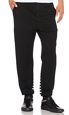 T by Alexander Wang Striped Gel Print Sweatpant in Matrix