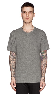 T by Alexander Wang Classic Short Sleeve Tee in Heather Grey