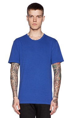 T by Alexander Wang Classic Pima Cotton Jersey Tee in Neptune