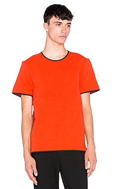 T by Alexander Wang Fitted Crewneck Tee in Lucifer