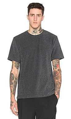 T by Alexander Wang Terry S/S Tee in Charcoal