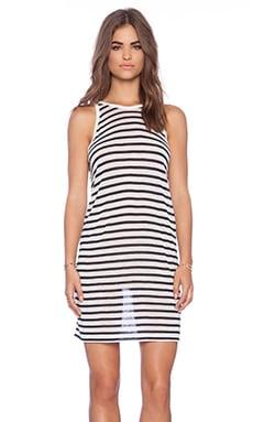 T by Alexander Wang Stripe Tank Dress in Navy & White