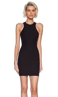 T by Alexander Wang Stretch Tech Suiting Sleeveless Dress in Black