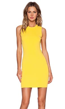 T by Alexander Wang Knit Open Back Dress in Mango