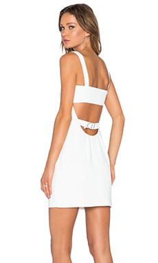 T by Alexander Wang Cutout Bandeau Dress in White