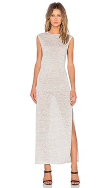 T by Alexander Wang Heather Maxi Dress in Light Heather Grey