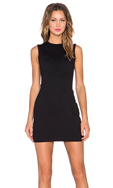 T by Alexander Wang Fitted Dress in Black