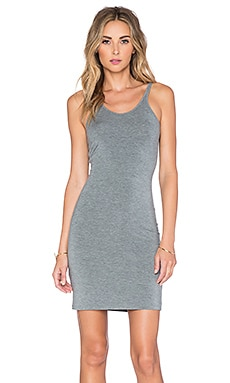 T by Alexander Wang Modal Spandex Cami Tank Dress in Heather Grey