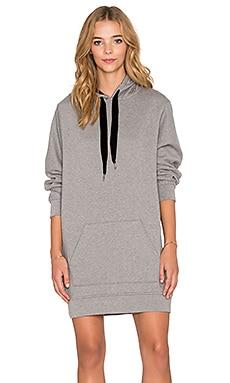 T by Alexander Wang Hooded Sweatshirt Dress in Heather Grey