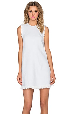 T by Alexander Wang Frayed Burlap Shift Dress in Sky