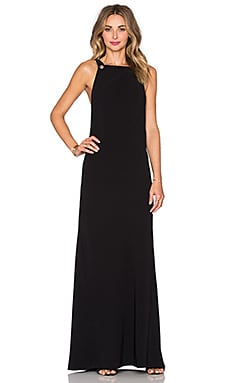 T by Alexander Wang Dobby Poly Till Maxi Dress in Black