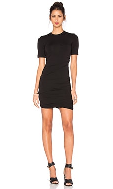 T by Alexander Wang Crepe Jersey Dress in Black