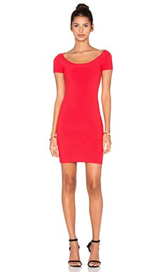 T by Alexander Wang Rib Knit Dress in Cherry