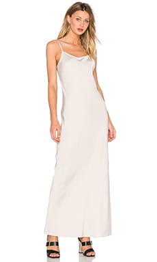T by Alexander Wang Satin Slip Dress in Stone