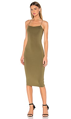 T by Alexander Wang Strappy Cami Tank Dress in Army