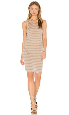 T by Alexander Wang Linen Tank Dress in Oatmeal & Jade