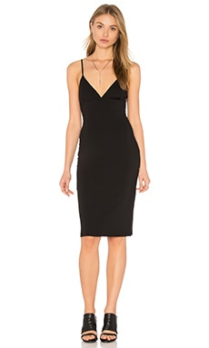 Fitted Spaghetti Strap Dress in Black
