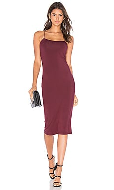 Strappy Cami Tank Dress in Wine